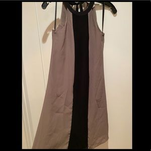 NWOT H&M S/L dress in brown & black, size 2